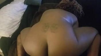 Ebony anal play