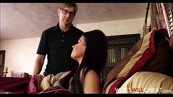Hot Brunette MILF Stepmom India Summer Caught Cheating On Husband With Their Son thumbnail