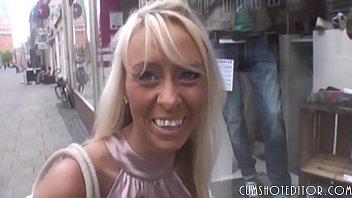 Hot German Blonde Amateur Sex In A Public Toilet POV