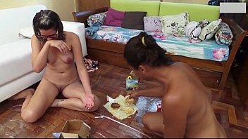 Two Naked Girls Gagging Vomit Puke Puking And Vomiting