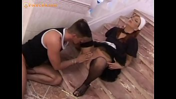 Maid getting fucked on the stairs