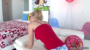 Glasses, Pigtails And Nasty Anal Sodomy - Lily Labeau