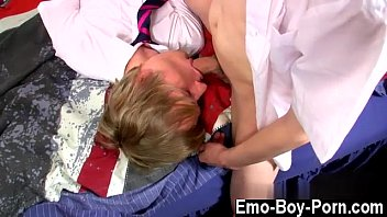 Hot gay Ethan Knight and Brent Daley are two insane students loving