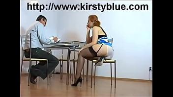 Student in short skirt gives teacher her panties?