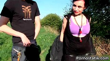 Horny emo girl Gina Snake is jerking