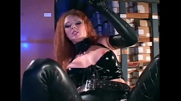 Uniformed babe in latex and high heels fucking pornhub video