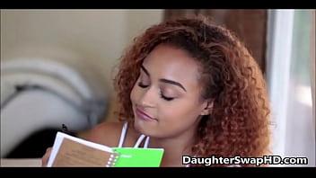 Teen White Girl Thinks Her Friends Black Dad Is Hot  - DaughterSwapHD.com