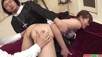 Japanese nun fucked Hitomi kanou removes the nun costume to fuck hard - more at japanesemamas com