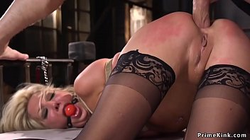 Anal sex for big tits tied blonde slut Vorschaubild