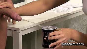 Anna Rose drinking piss and blowing hard cock