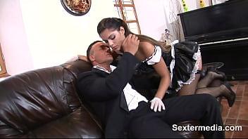 Skinny Teen Maid Fucked Hard Long & Deep By Big Cock Rubbing The Pussy Till Cum