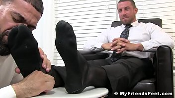 Punta cana gay Deviant businessman ray toe licked while masturbating