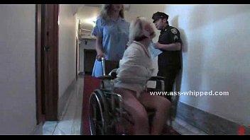 Old barn holds prisoner a lesbian slave