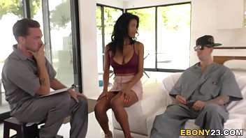 Ebony Nia Nacci Has Threesome Sex With Big Dicks