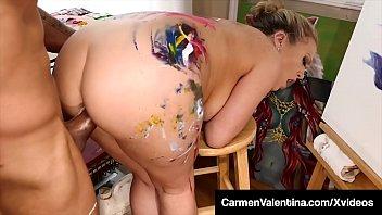 Dark Dicked Carmen Valentina - Cummed On By Big Black Cock!