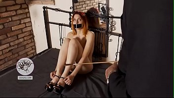Young redhead's clitoris tortured