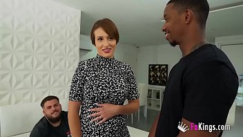 She's been looking forward to it. A BIG BLACK COCK while husband watches!