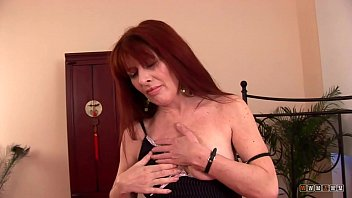 Hairy mature in heels Horny milf loves getting a younger shaft in her cunt