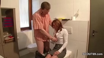 HOT GERMAN REDHEAD MILF SEDUCE TO FUCK AT WORK