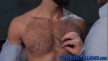 Bearded hunk gets fucked