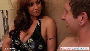 Tattooed Milf Eva Notty take a big young cock