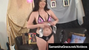 BDSM Girl Samantha Grace Loves Tying & Gagging Herself Up !