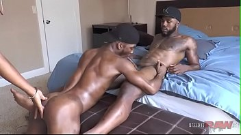 Gay guy making Black guys make love