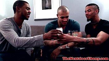 Gay black jocks - Ebony jocks spitroasting white meat