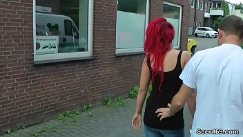 German Redhead Teen Lexy Seduce to Fuck Outdoor by Stranger