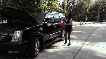 Slut Prolapse And Juicy Orgasm On The Road (1)