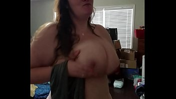 Bbw huge tit wife playing with her tits