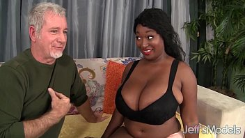 Ebony plumper Marie Leone taking a fat cock
