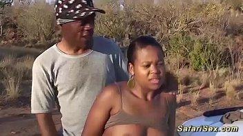 real african safari jeep backseat fucking