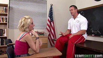 pierced blondie screwed hard by her prof