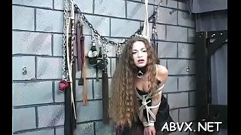 Amature bondage tubes Extreme bondage video with cutie obeying the immodest play