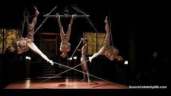 【緊縛】緊縛されて吊るされた美女3人が鞭打たれて大量の潮を吹き上げて絶頂する【潮吹き】