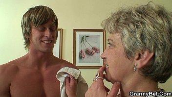 Young stud bangs 60 years old woman thumbnail