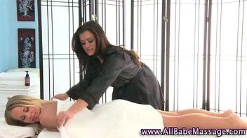 Hot babes sexy lesbian massage