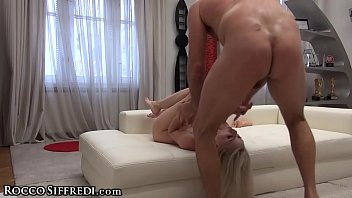 Rocco Siffredi'_s Cock in Amateur Teen Ass &amp_ Dildo DP'_s her Pussy!