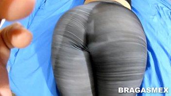 Pull down my pants spank Cojiendo a mi secretaria culona con los spandex puestos