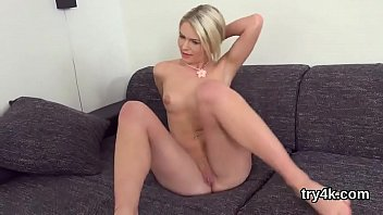 Cute chick blows cock in pov and gets juicy quim pounded plowing sweeties muff