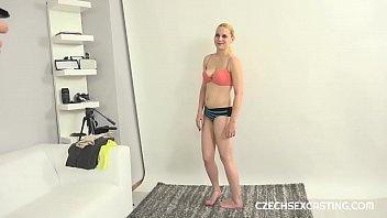 Blonde petite girl in a casting