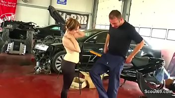 GERMAN TEEN PAY THE CAR REAPAIR WITH A GOOD FUCK
