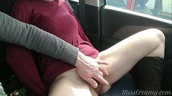 My Student Fingered His Teacher Wet Pussy Inside Car On Our Way Home From School - MissCreamy