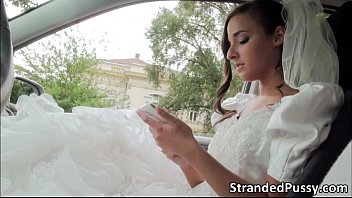 Fuck the bride on her wedding night Glamorous bride amirah sucks a big hard dick and gets pussy fucked