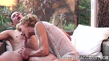Hot granny biting cock Smoking hot granny takes a young cock