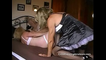 Old Amateur Cross Dressers With A Granny