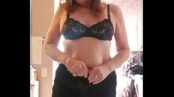 Busty Redhead MILF Shows Big Tits