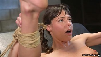 Tommy Pistol brutal anal fucks tied babe