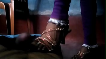 Indian Bhabhi Trampling dick in high heels and Anklets